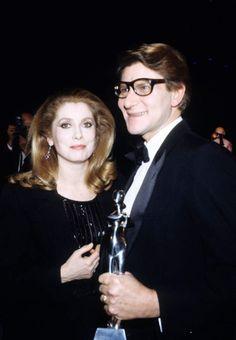 Avec Yves Saint-Laurent en 1980