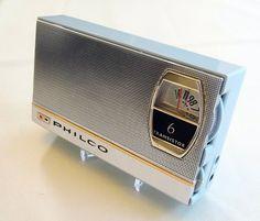 Vintage Philco Model T-67GP 6-Transistor Radio, Made in Japan, Circa 1963.