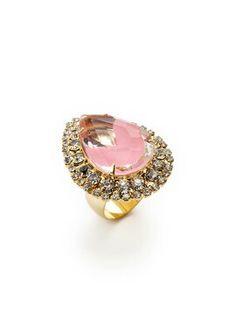 Noir Jewelry Teardrop Ring ... GILT.com