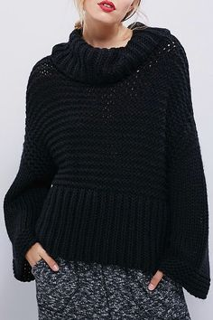 Chunky Black Knit ///