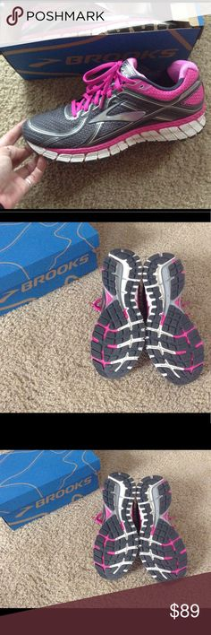 EUC!! Brooks Adrenaline Size 11. Fit a 10 better Very Nice! Excellent Condition! Retail at $128! Brooks Adrenaline GTS 15  Size:  11 Womens In my opinion these run about a size small so I think these will fit someone that wears a size 10 better. I wear a 10 and these fit perfect. Color:  pink, white, silver, grey These r extremely nice, top of the line shoes I bought these @Dicks Sporting Goods. I've wore these several times on my treadmill. Extremely comfortable! Have a roll bar in them for…
