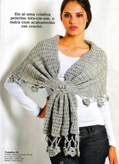 Ponchos e xales - Donna Taylor - Álbumes web de Picasa http://www.darievna.ru/page/seraja-pelerina#cut
