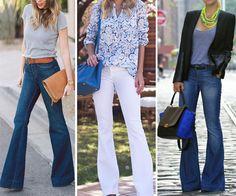 calças flare - como usar calçar pantalona - Garotas do Brasil – Via Marte