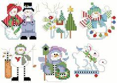 Christmas Ornaments Cross Stitch Pattern