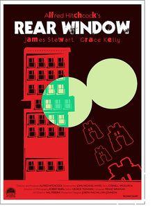 """Rear Window"" (Hitchcock) movie poster"