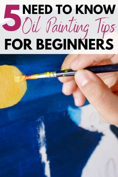 Been looking through different oil painting for beginners guides and these were such great oil painting tips for me as a beginner to oil painting...love it!