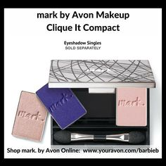 mark by Avon Clique It Compact Customer Eyeshadow Palette (eyeshadow singles sold separately)  - new makeup relaunch Campaign 10 - shop mark by Avon Makeup http://barbieb.avonrepresentative.com