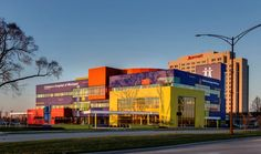 Children's Hospital of Michigan in Troy, Michigan awarded Silver in the Healthcare Category at this year's Brick in Architecture Awards: Harley Ellis Devereaux (HED); HED with PEA Inc.; The Christman Company; Glen-Gery Corporation; Brick Tech Architectural; Schiffer Mason Contractors; and Justin Maconochie Photography LLC