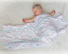 Personalized baby swaddle blanket - Custom Design printed on Jersey Knit fabric- Arrows & Triangles Baby Swaddle Blankets, Receiving Blankets, Baby Name Reveal, Personalized Baby Blankets, Baby Girl Names, Baby Design, Baby Car Seats, Print Design, Triangles