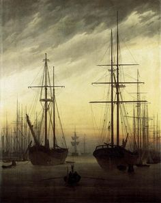 Caspar David Friedrich - View of a Harbour