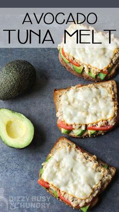 Healthy Tuna Sandwich, Tuna Melt Sandwich, Vegetarian Sandwich Recipes, Tuna Melts, Healthy Sandwiches, Avocado Sandwich Recipes, Vegetarian Cooking, Healthy Packed Lunches, Healthy Foods To Eat
