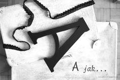 Wooden letter A by LFM ( 25 cm x 18 mm )