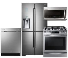 Samsung Chef Collection 4-Piece Stainless Steel Kitchen Set with RF34H9960S4 36