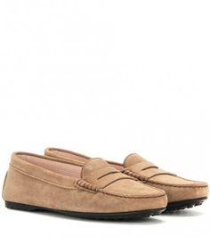 Loafers Gommini Aus Veloursleder