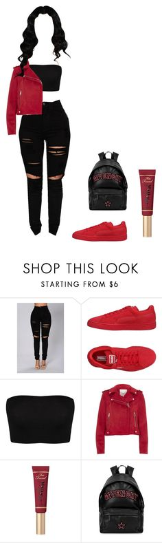 """"" by bodakjello ❤ liked on Polyvore featuring Puma, River Island, Too Faced Cosmetics and Givenchy"