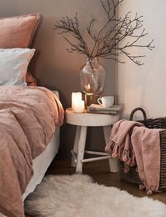 The country way of life is extremely relaxing. As well as it would certainly profit you to have a rustic bedroom design. That being stated right here are Rustic Bedroom Ideas. Pink Bedroom Decor, Cozy Bedroom, Trendy Bedroom, Modern Bedroom, Contemporary Bedroom, Bedroom Romantic, Dusty Pink Bedroom, Bedroom Rustic, Bedroom Green
