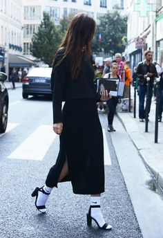 socks with sandals - 30 Stylish Fall Outfits For Women  <3 <3