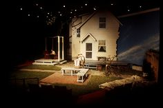 All My Sons - Act 1. Scenic design by Christopher L. Harris. 2002