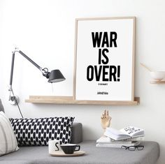 War is over if you want it. John lennon quote. Inspirational