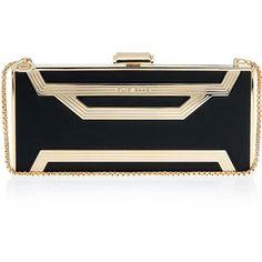 ELIE SAAB Rectangle Box Clutch Bag ❤ liked on Polyvore
