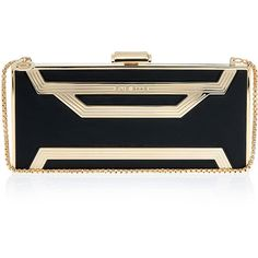 ELIE SAAB Rectangle Box Clutch Bag ❤ liked on Polyvore