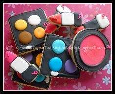 Different set w/out glitter  Makeup cookies by Sweet Creations Cookies, via Flickr