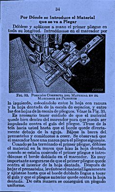 Marcador de pliegues. Pág. 34
