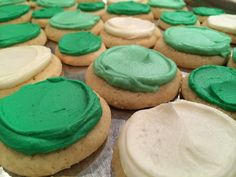 St Patrick's Soft Iced Sour Cream Cookies