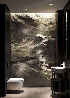Shaken not Stirred Apartment in the Dnipro - Haus design - Bathroom Decor Modern Interior, Home Interior Design, Interior And Exterior, Architecture Interior Design, Futuristic Interior, Interior Livingroom, Contemporary Interior Design, Interior Walls, Contemporary Architecture