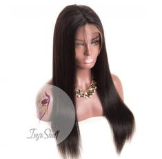 Pre Plucked Brazilian Straight Hair Wig Price: 58.18 & FREE Shipping #hashtag3 100 Human Hair, Human Hair Wigs, Wig Hairstyles, Straight Hairstyles, Wig Making, Wigs For Black Women, Remy Hair, Lace Frontal, Brazilian Hair