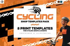 Cycling Shop Templates Pack by BrandPacks on @creativemarket