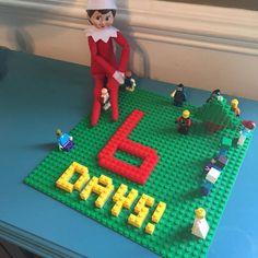 Easy elf on the shelf ideas - Legos