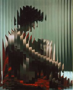 ERWIN BLUMENFELD, LISETTE BEHIND FLUTED GLASS 1943.