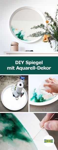 IKEA Deutschland | DIY Spiegel mit Aquarell-Dekor