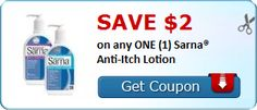 New Coupon!  SAVE $2.00 on any ONE (1) Sarna® Anti-Itch Lotion! - http://www.stacyssavings.com/new-coupon-save-2-00-on-any-one-1-sarna-anti-itch-lotion-4/
