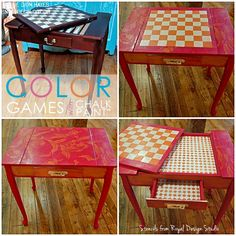 Transform thrifty furniture into creative and funky design statements with Annie Sloan Chalk Paint and Royal Design Studio stencils.