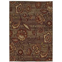@Overstock - A whimsical floral print highlights this beautiful are rug. Durable and vibrant, this rug features stunning tones of brown of grey that are sure to complement any room of your home.http://www.overstock.com/Home-Garden/Mohawk-Home-Alpington-Multi-color-Area-Rug-5-x-7/6442675/product.html?CID=214117 $89.99