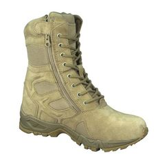 Mens Boots - Tactical Forced Entry Side Zipper, Desert Tan, 11 Wide by Rothco - http://authenticboots.com/mens-boots-tactical-forced-entry-side-zipper-desert-tan-11-wide-by-rothco/