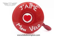 J´aime Mon Vélo (Dringdring) bicycle bell, accessory for Brompton