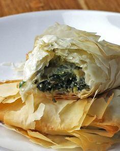 Greek Spinach Pies (Spanakopita)