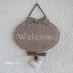 Door sign Welcome - Targa per porta - Plaque de porte