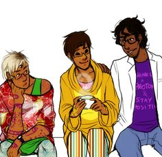 """Jathis: """"CARLOS AND CECIL COMFORTING A RECENTLY FREED KEVIN HOW ABOUT THAT FOR A PROMPT."""" #NightVale"""