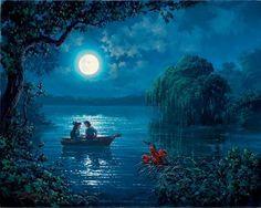 "The Little Mermaid ""Kiss the Girl"" Giclee on Canvas"