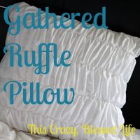 Gathered ruffle pillow tutorial to go with quilt pinned