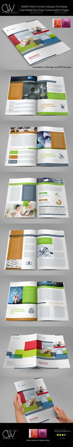 IT Company Brochure Design Template - 12 Pages - Corporate Brochures
