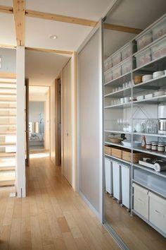 35 Ideas Kitchen Pantry Ideas Sliding - pinupi love to share Kitchen Dinning, Kitchen Pantry, Kitchen Storage, Muji Storage, Storage Room Organization, Kitchen Interior, Home Interior Design, Muji Haus, Küchen Design