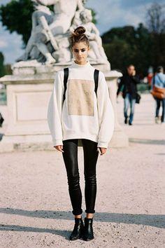 Model Taylor Marie Hill at Paris Fashion Week SS15
