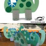 Easy to make paper dinosaur