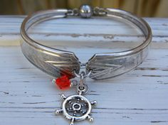 Spoon handle bracelet  ship boat wheel by WhisperingMetalworks