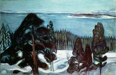winter night by edvard munch